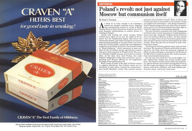 Article Preview: Poland's revolt: not just against Moscow but communism itself, January 1981 | Maclean's