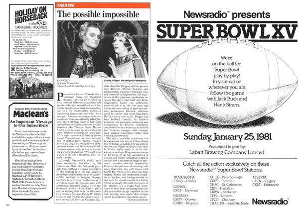 Article Preview: The possible impossible, January 1981 | Maclean's