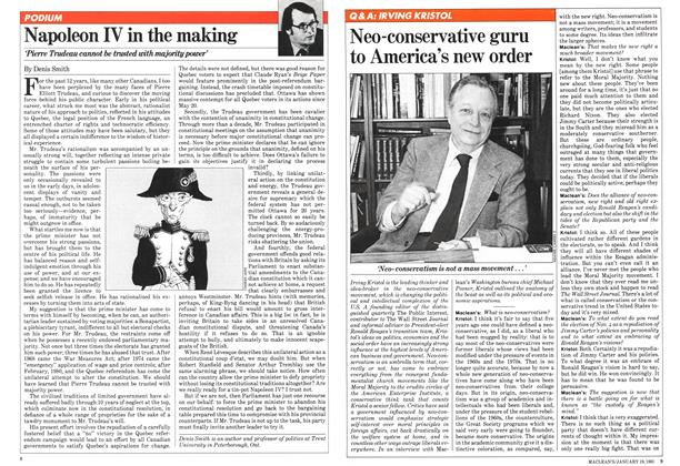 Article Preview: Neo-conservative guru to America's new order, January 1981 | Maclean's