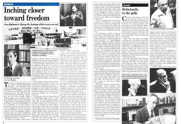 Article Preview: Inching closer toward freedom, January 1981 | Maclean's