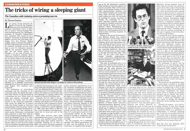 Article Preview: The tricks of wiring a sleeping giant, January 1981 | Maclean's