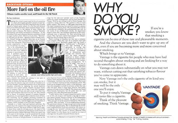 Article Preview: More fuel on the oil fire, January 1981 | Maclean's