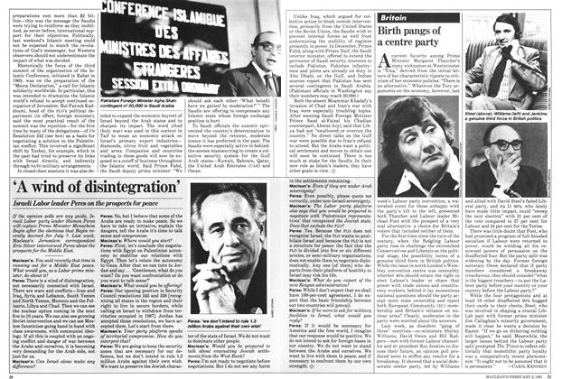 Article Preview: Birth pangs of a centre party, February 1981 | Maclean's