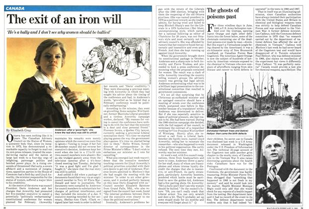 Article Preview: The exit of an iron will, February 1981 | Maclean's