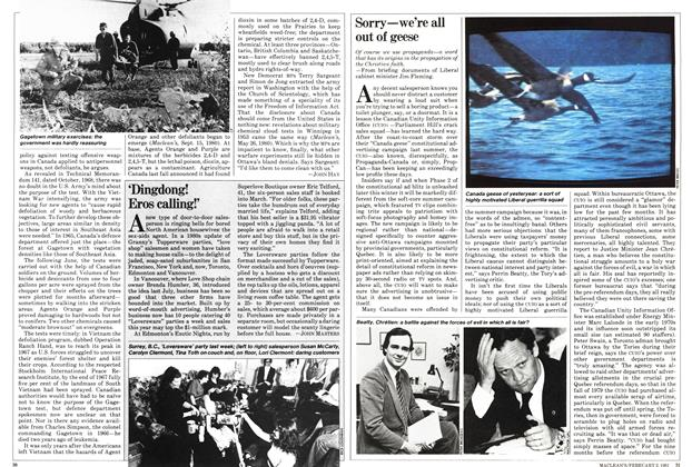 Article Preview: Sorry—we're all out of geese, February 1981 | Maclean's