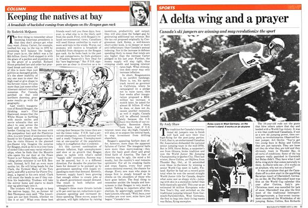 Article Preview: A delta wing and a prayer, February 1981 | Maclean's