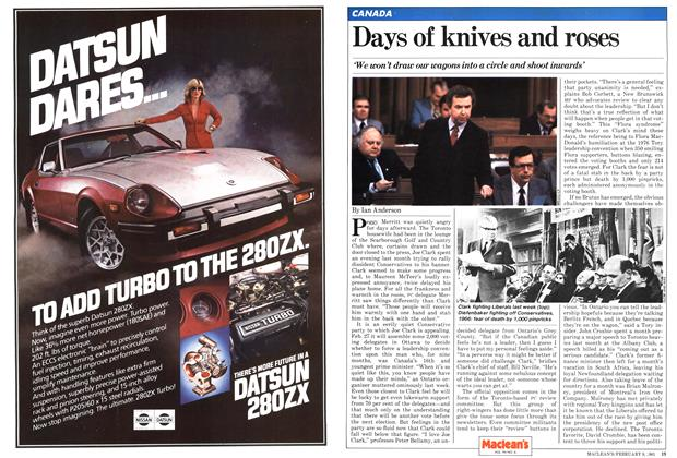 Article Preview: Days of knives and roses, February 1981 | Maclean's