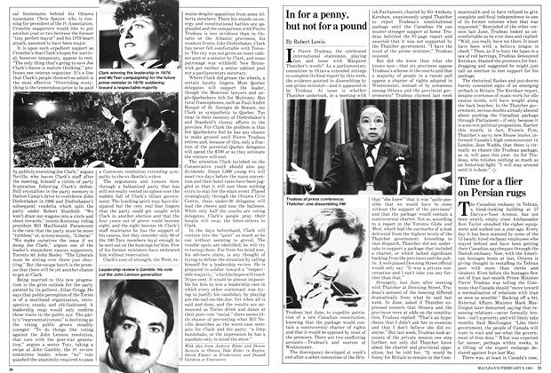 Article Preview: Time for a flier on Persian rugs, February 1981 | Maclean's