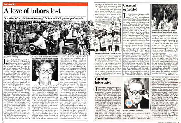 Article Preview: A love of labors lost, February 1981 | Maclean's