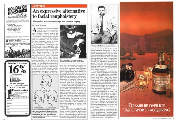 Article Preview: An expressive alternative to facial reupholstery, February 1981 | Maclean's