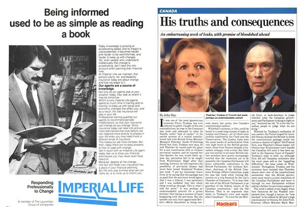 Article Preview: His truths and consequences, February 1981 | Maclean's