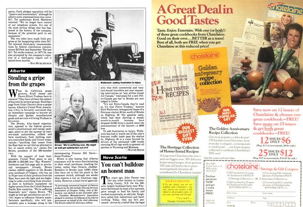 Article Preview: Stealing a gripe from the grapes, February 1981 | Maclean's