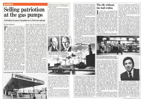 Article Preview: The elk without, the bull within, February 1981 | Maclean's