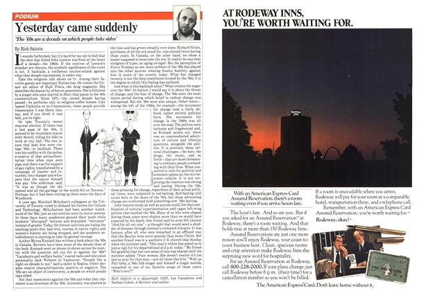 Article Preview: Yesterday came suddenly, February 1981 | Maclean's