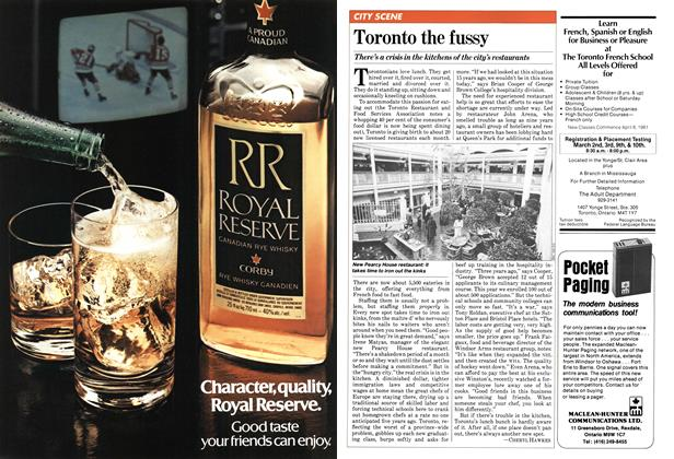 Article Preview: Toronto the fussy, February 1981 | Maclean's