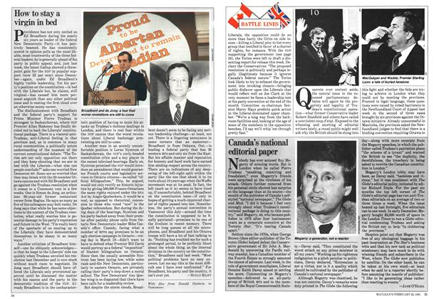 Article Preview: Canada's national editorial paper, February 1981 | Maclean's