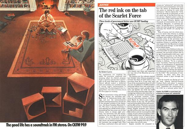 Article Preview: The red ink on the tab of the Scarlet Force, February 1981 | Maclean's