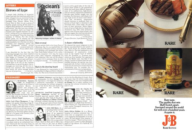 Article Preview: LETTERS, February 1981   Maclean's