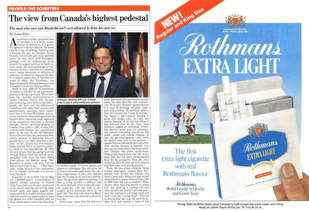 Article Preview: The view from Canada's highest pedestal, February 1981 | Maclean's
