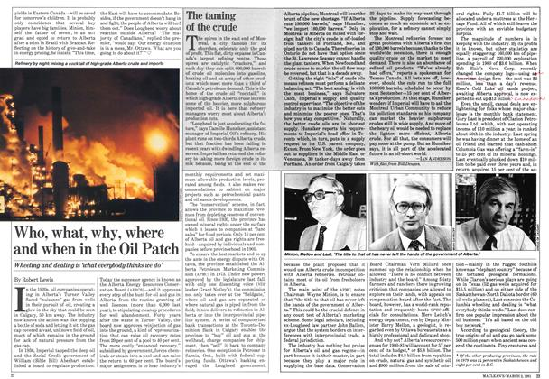 Article Preview: Who, what, why, where and when in the Oil Patch, March 1981 | Maclean's
