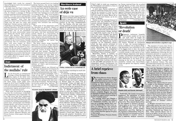 Article Preview: A brief reprieve from chaos, March 1981 | Maclean's