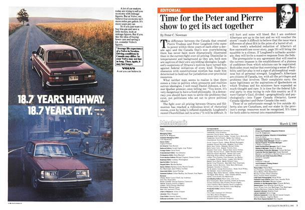 Article Preview: Time for the Peter and Pierre show to get its act together, March 1981 | Maclean's