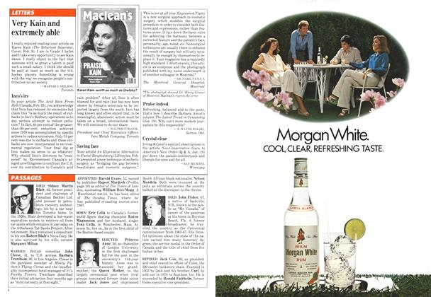 Article Preview: Very Kain and extremely able, March 1981 | Maclean's
