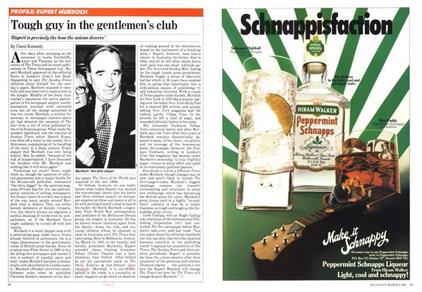 Article Preview: Tough guy in the gentlemen's club, March 1981 | Maclean's