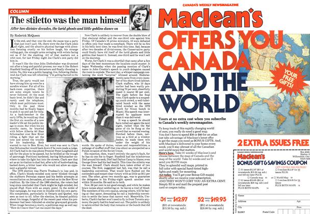 Article Preview: The stiletto was the man himself, March 1981 | Maclean's