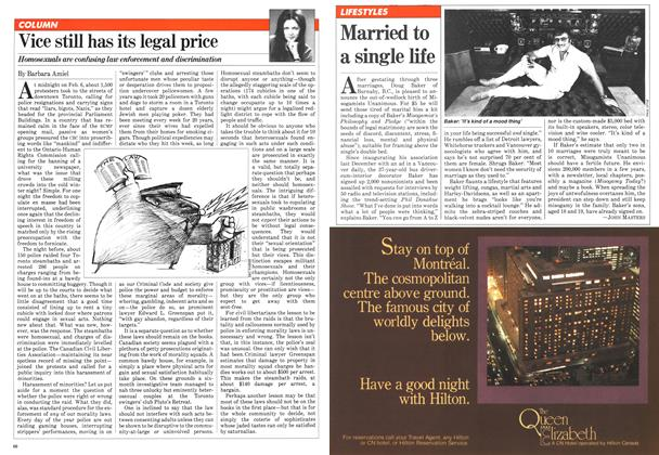 Article Preview: Married to a single life, March 1981 | Maclean's