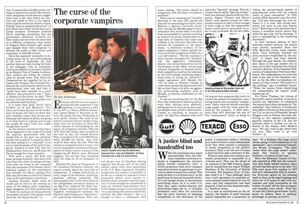 Article Preview: The curse of the corporate vampires, March 1981 | Maclean's