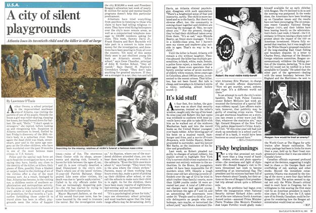 Article Preview: A city of silent playgrounds, March 1981 | Maclean's