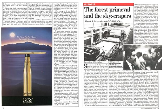Article Preview: The forest primeval and the skyscrapers, March 1981 | Maclean's
