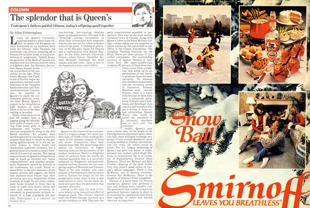 Article Preview: The splendor that is Queen's, March 1981 | Maclean's
