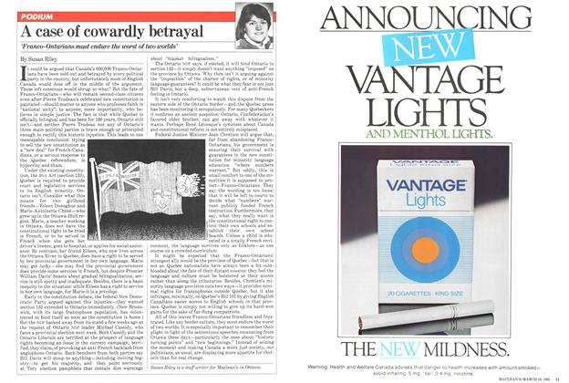 Article Preview: A case of cowardly betrayal, March 1981 | Maclean's