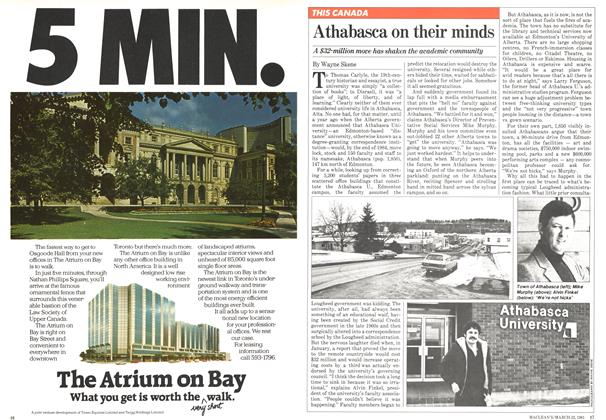 Article Preview: Athabasca on their minds, March 1981 | Maclean's