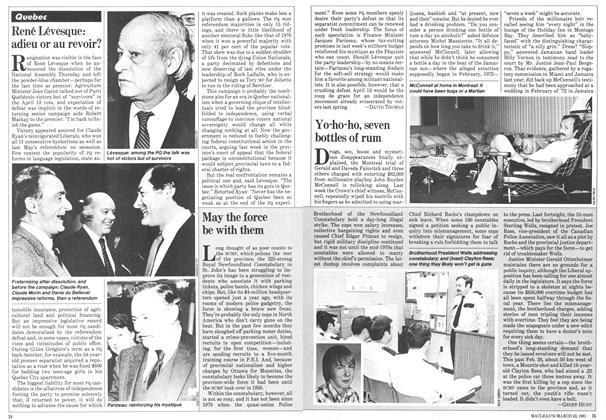 Article Preview: René Lévesque: adieu or au revoir?, March 1981 | Maclean's