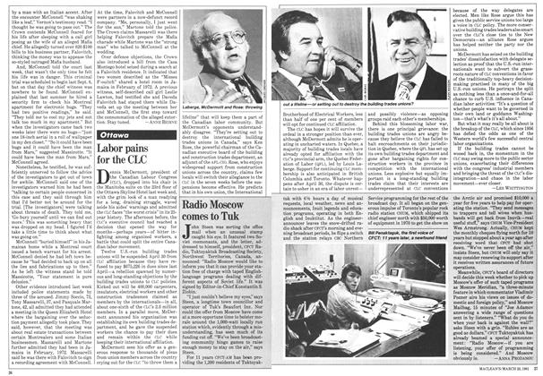 Article Preview: Labor pains for the CLC, March 1981 | Maclean's