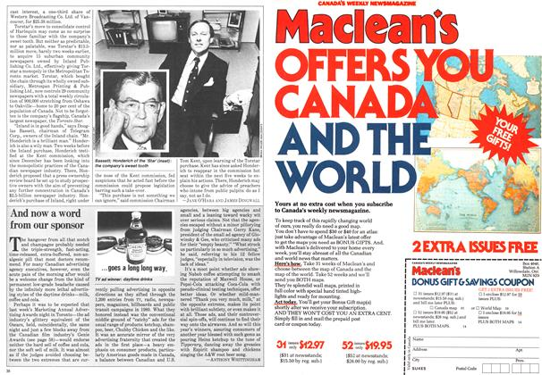 Article Preview: And now a word from our sponsor, March 1981   Maclean's