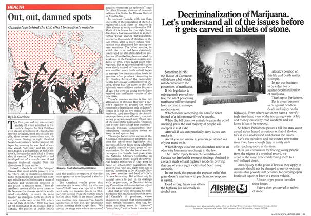 Article Preview: Out, out, damned spots, March 1981 | Maclean's