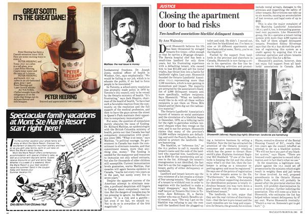 Article Preview: Closing the apartment door to bad risks, March 1981 | Maclean's