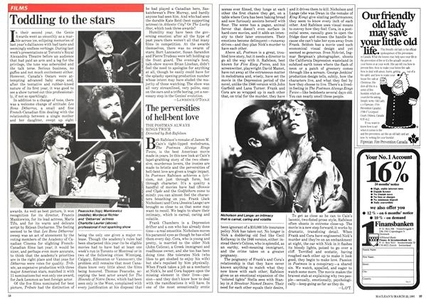 Article Preview: Toddling to the stars, March 1981 | Maclean's