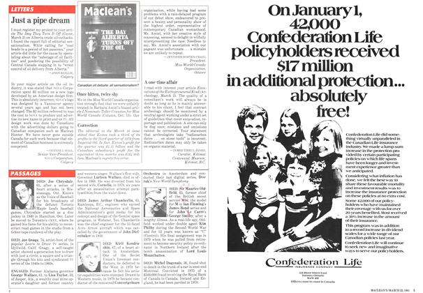 Article Preview: Just a pipe dream, March 1981 | Maclean's