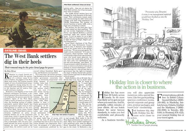 Article Preview: The West Bank settlers dig in their heels, March 1981 | Maclean's