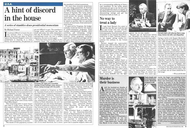 Article Preview: A hint of discord in the house, March 1981 | Maclean's