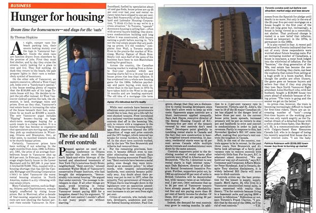 Article Preview: Hunger for housing, March 1981 | Maclean's