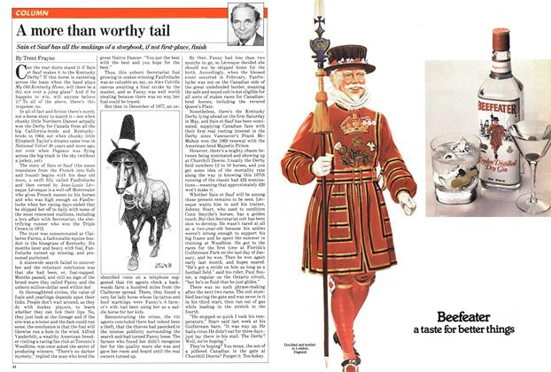 Article Preview: A more than worthy tail, March 1981 | Maclean's