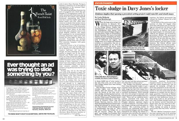 Article Preview: Toxic sludge in Davy Jones's locker, March 1981 | Maclean's