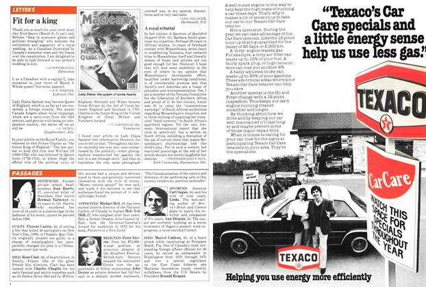 Article Preview: LETTERS, March 1981 | Maclean's