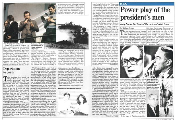 Article Preview: Power play of the president's men, April 1981 | Maclean's